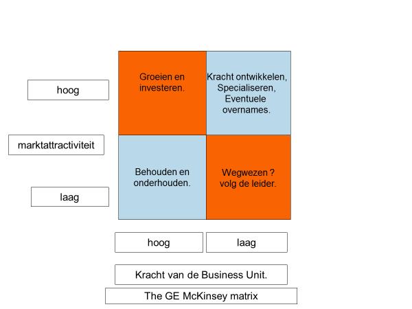 De GE McKinsey matrix