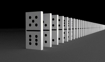 de Domino theorie : een kwestie van voorspellen.